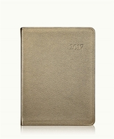 GiGi New York 2017 Desk Diary Metallics Leather