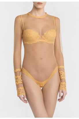 La Perla Rugiada Yellow Long-Sleeved Bodysuit