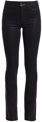 Hudson Jeans Barbara High-Rise Coated Bootcut Jeans