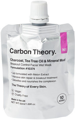 Carbon Theory Charcoal and Tea Tree Oil Mineral Breakout Control Facial Wet Mask