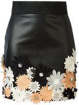 Ungaro flower appliqué mini skirt