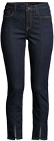 7 For All Mankind Jen7 By Slit-Cuff Ankle Skinny Jeans