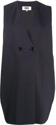 MM6 MAISON MARGIELA Pinstripe Sleeveless Jacket