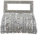 Badgley Mischka Crystal Embellished Satin Evening Bag
