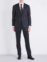 Corneliani Nail head-print regular-fit wool suit