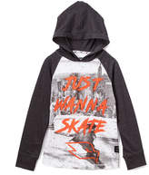 Charcoal 'Just Wanna Skate' Raglan Hoodie - Boys