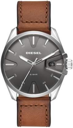 Diesel NSBB Three-Hand Brown Leather Watch