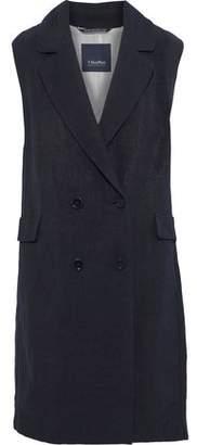 Max Mara Velia Double-breasted Canvas Vest