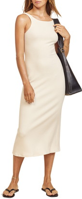 Reformation Bel Ribbed Sleeveless Midi Dress