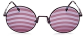 Fendi Mirrored Round Stripe Lens Sunglasses, 53mm