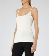 Reiss Camellia - Jersey Cami Top in White, Womens