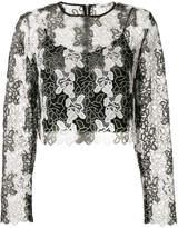 Diane von Furstenberg floral lace crop top