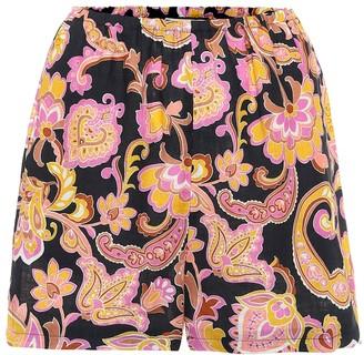 Gucci Paisley linen shorts