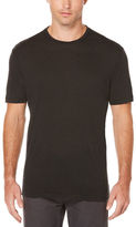 Perry Ellis Short Sleeve Linen Crew Neck Tee