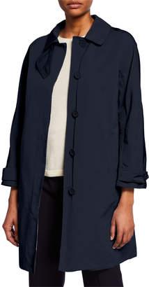 Max Mara The Cube Faille Reversible Check Raincoat, Blue