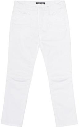 Balmain Kids Stretch-cotton jeans
