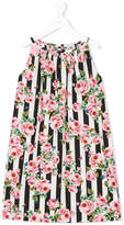 Dolce & Gabbana striped floral dress
