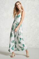 Forever 21 FOREVER 21+ Contemporary Palm Leaf Dress