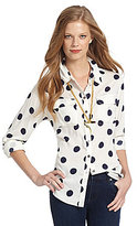 Vince Camuto TWO by Polka-Dot Shirt