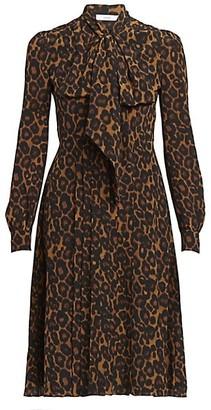 Erdem Ravia Leopard-Print Dress