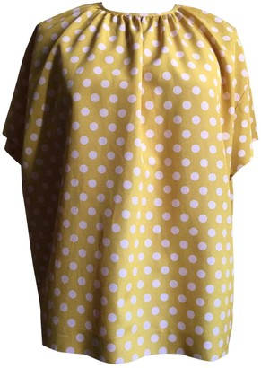 Rochas Yellow Cotton Top for Women