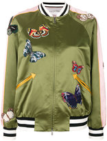 Valentino butterfly patch bomber jacket