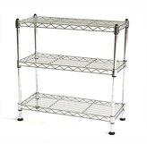 Seville Classics 3 Shelf Cabinet Organizer, 17.5 by 7.5 by 18.5-Inch, Ultra Zinc