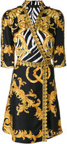 Versace Signature print wrap dress