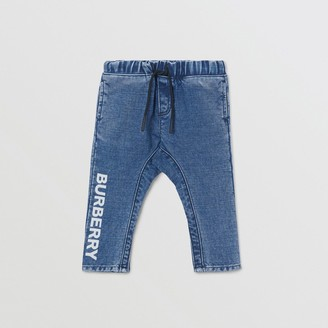 Burberry Logo Print Japanese Denim Jeans