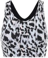 Varley Bassett leopard-print sports bra