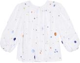 Thierry Colson Pandora Garden-embroidered shirt