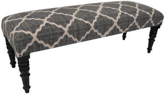 Herat Oriental Handmade Indo Cotton Upholstered Wooden Bench