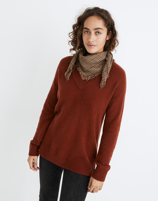 Madewell Bartlett V-Neck Pullover Sweater in Coziest Yarn