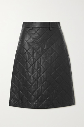 Dodo Bar Or Lona Quilted Leather Midi Skirt - Black