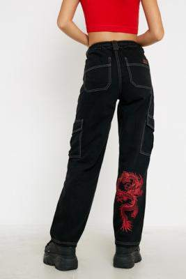 BDG Dragon Print Skate Jeans - black 24W 30L at Urban Outfitters
