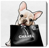 Oliver Gal Frenchie Glam Canvas Wall Art