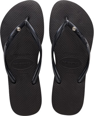 Havaianas Flip Flop Sandals - Slim Crystal Glamour
