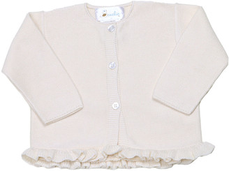 Cuclie Girl's Solid Knit Ruffle Cardigan, Size 3-18M
