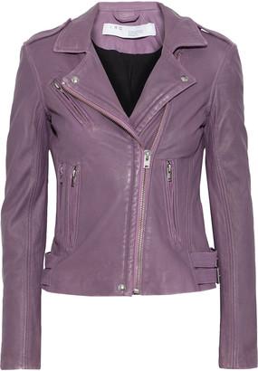 IRO Han Washed-leather Biker Jacket