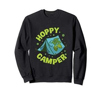 Camper Hoppy Camping Pun Beer Brewing Gift Outfit Sweatshirt