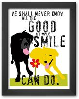 """Art.com The Good a Simple Smile Can Do"""" Framed Art Print by Ginger Oliphant"""