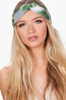 Boohoo Elena Tropical Print Knotted Headband