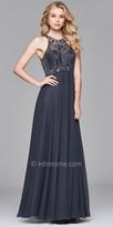 Faviana Chiffon Empire Beaded Keyhole Back Prom Dress