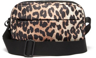 Ganni Leopard-print Recycled-shell Cross-body Bag - Leopard