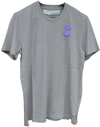 Off-White Grey Cotton Top for Women