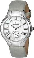 Philip Stein Teslar Women's 41-CMOP-CMBZ Stainless Steel Watch with Leather Band