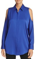 DKNY Cold Shoulder Silk Blouse - 100% Bloomingdale's Exclusive