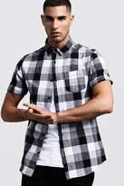 BoohooMAN Short Sleeve Check Shirt