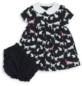 Kate Spade Baby's Kimberly Cat Print Knit Dress with Bloomers