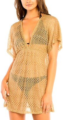 Jordan Taylor Women's Beachwear Empire-Waist V-Neck Tunic Cover Up